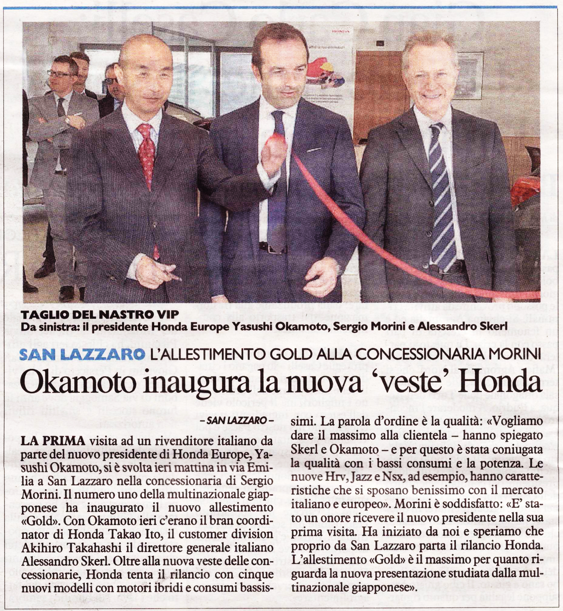 Taglio del nastro Honda Automotive Group